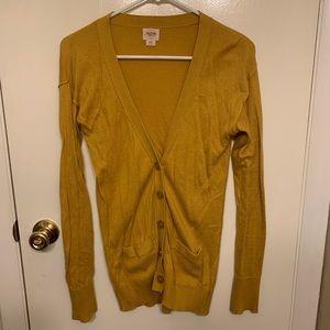 Long mustard cardigan